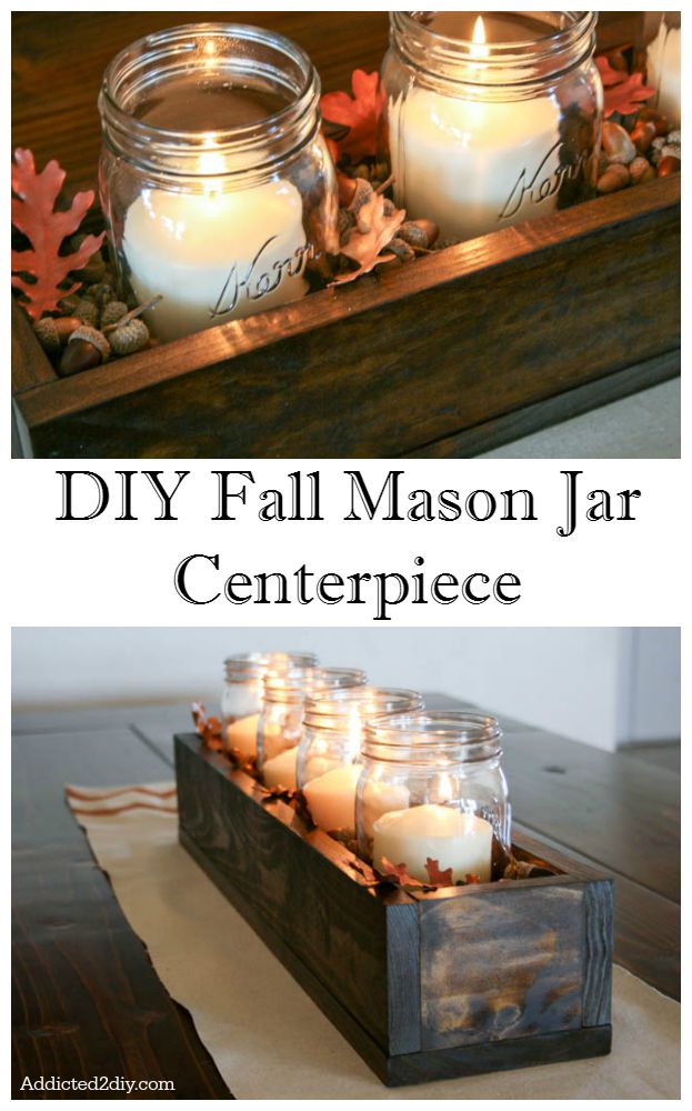 DIY Fall Mason Jar Centerpiece
