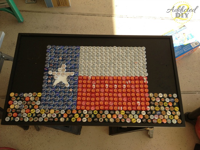 Once The Flag Was Done, We Filled In The Remaining Part Of The Table With  Random Bottle Caps. Last Year I Discovered That Oak Creek Brewery (a Local  ...