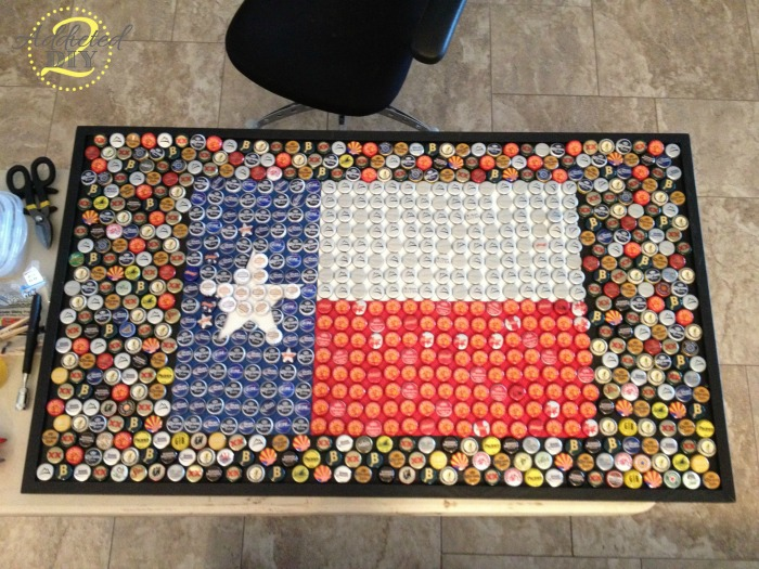 Once We Managed To Squeeze All Of The Bottle Caps Onto The Table, We  Started Gluing Them Down. This Task Was Tedious, But It Is Absolutely  Necessary If You ...