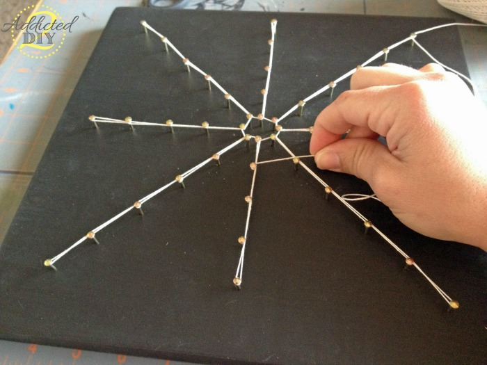 DIY Spider Web String Art