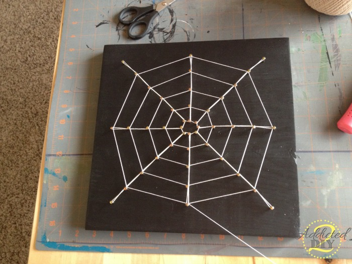 Diy Spider Web String Art Addicted 2 Diy