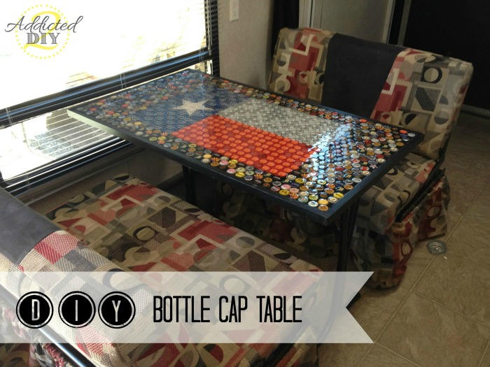 DIY Bottle Cap Table Addicted 2 DIY