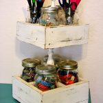 Double-Decker Mason Jar Craft Caddy