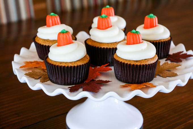These cupcakes are insanely delicious and easy to make! They're a huge hit at any Halloween party or fall gathering. Definitely a MUST HAVE in your recipe book!
