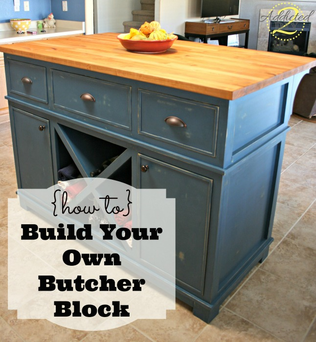 how to build your own butcher block table diy kids picnic table plans ...