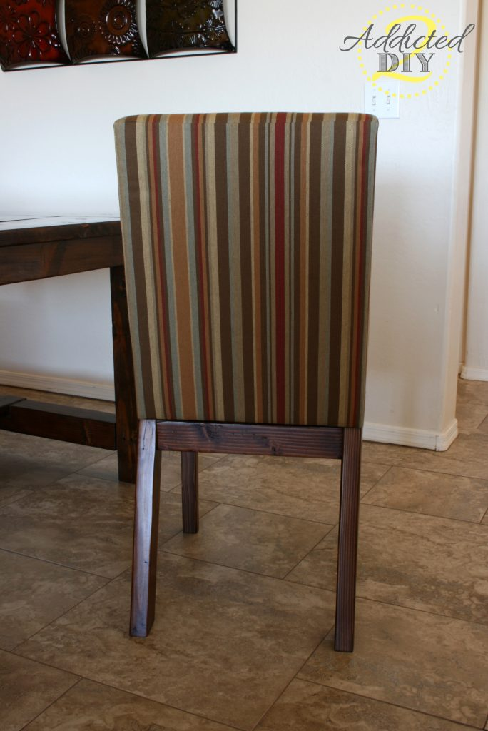 back view of upholstered chair