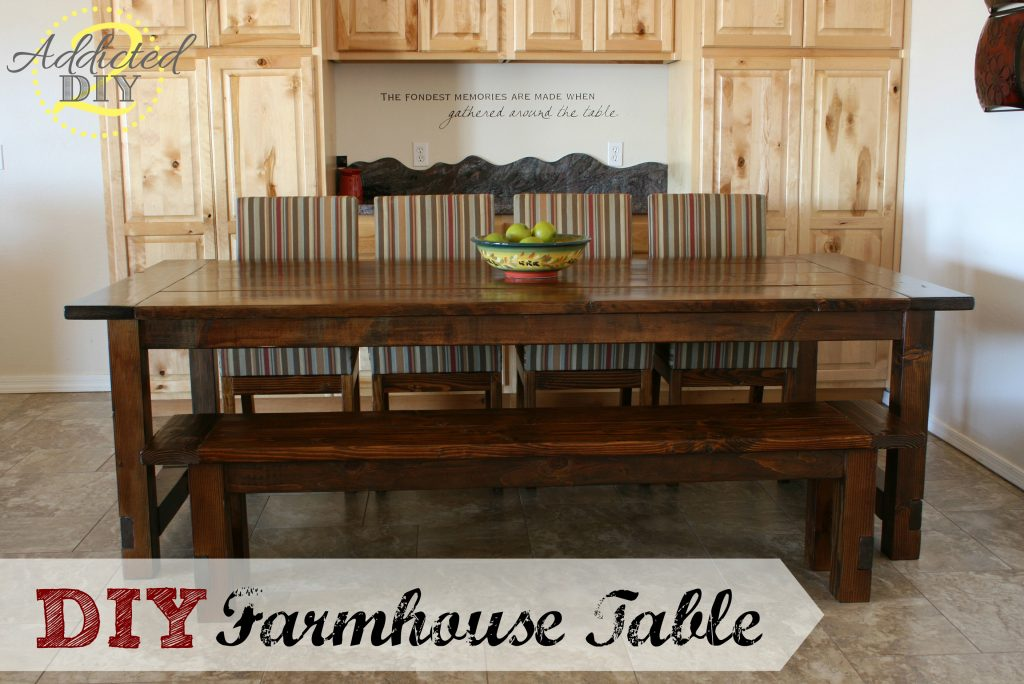 Diy Farmhouse Table With Extensions Addicted 2 Diy