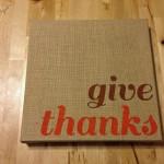 Easy Thanksgiving Burlap Canvas Art