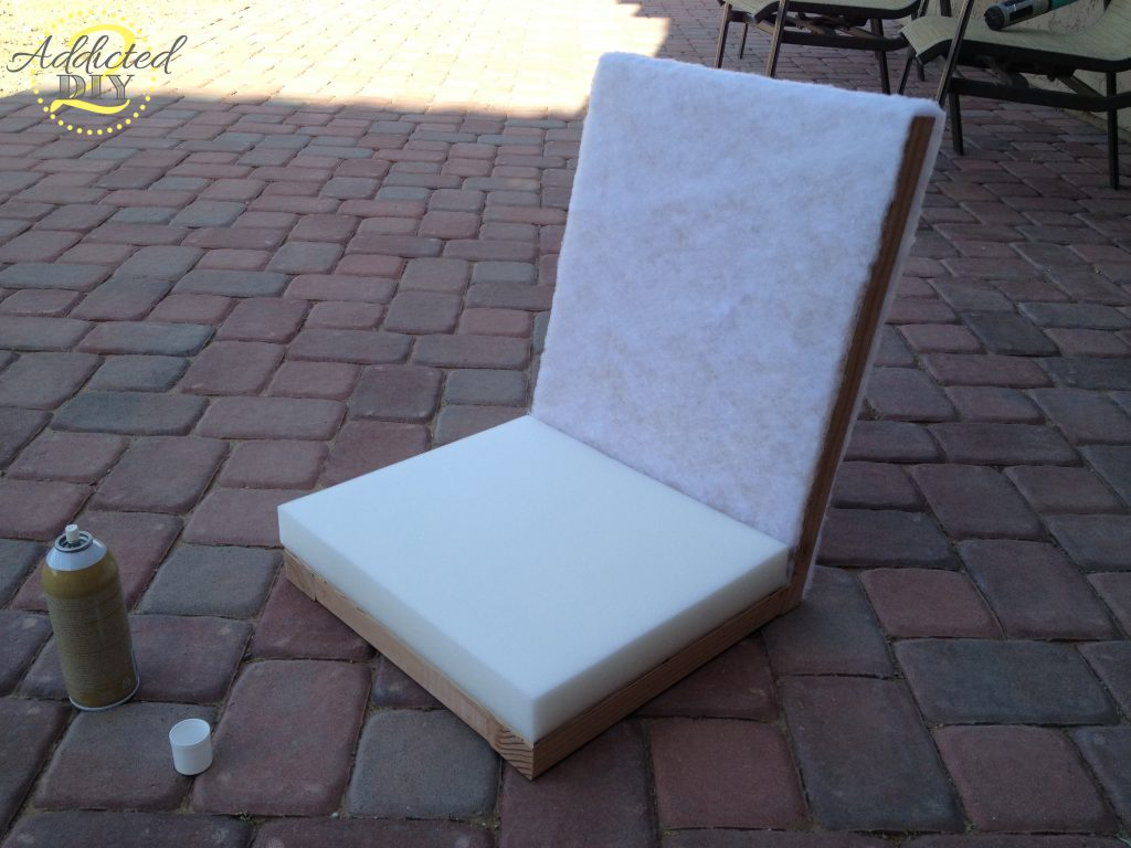 attaching seat cushion and foam back