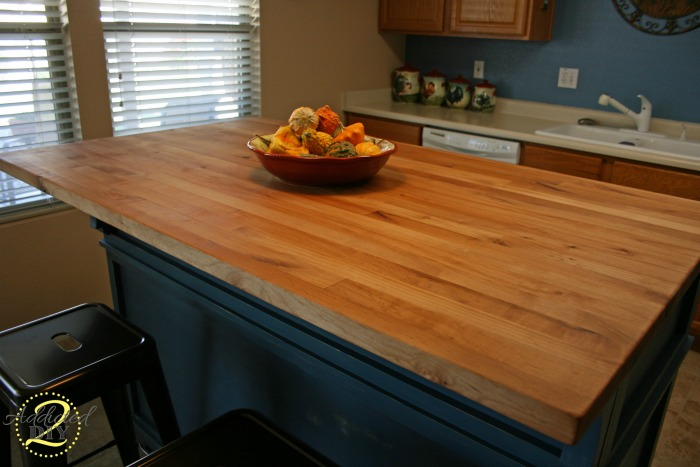 How to build your own butcher block addicted 2 diy for Installing butcher block countertops