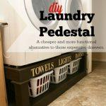 DIY Laundry Pedestal