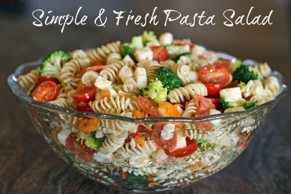 Simple Fresh Pasta Salad Addicted 2 Diy