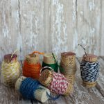 Wine Cork Spools {for twine and floss}
