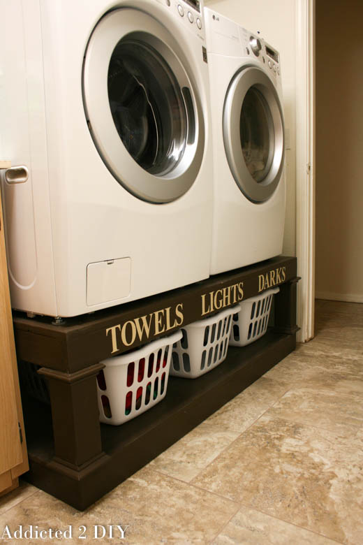 diy laundry pedestal plans