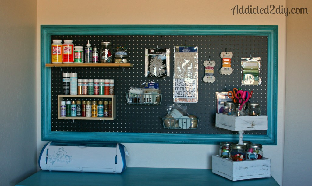 Craft Room Pegboard Organization @ Addicted 2 DIY