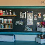Craft Room Pegboard Organization