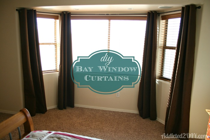 curtain rod for bay window diy