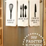DIY Painted Kitchen Towels 3