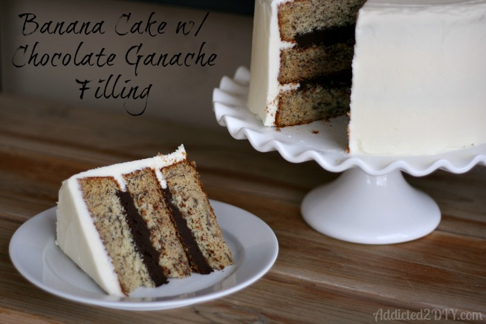 Banana Cake with Chocolate Ganache Filling | Addicted 2 DIY