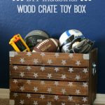 DIY Industrial Wood Crate Toy Box
