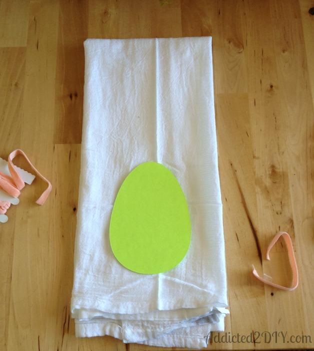Anthropologie Inspired Ribbon Egg Towel