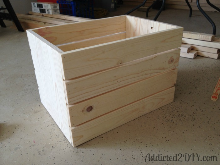 DIY Industrial Wood Crate Toy Box - Addicted 2 DIY