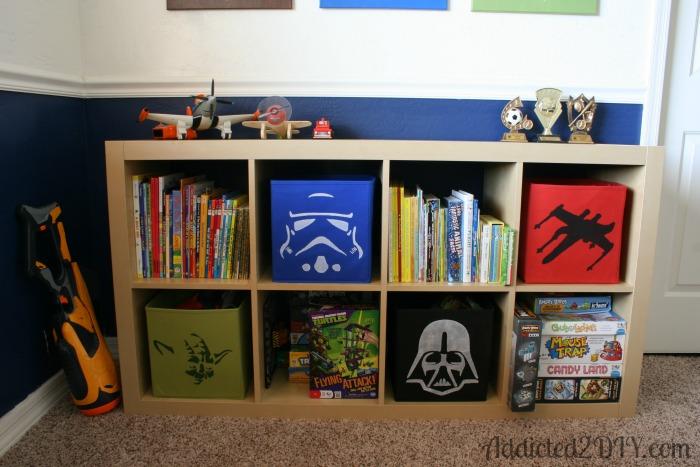 Star Wars Stenciled Storage Boxes