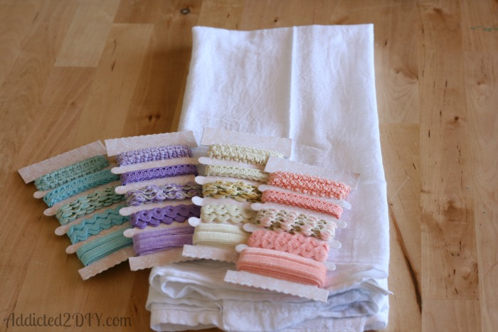 Anthropologie Inspired Ribbon Egg Towel