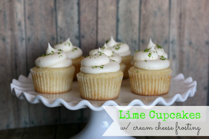 Lime Cupcakes w Cream Cheese Frosting  Addicted 2 DIY