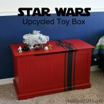 Star Wars Upcycled Toy Box {with free SVG file}