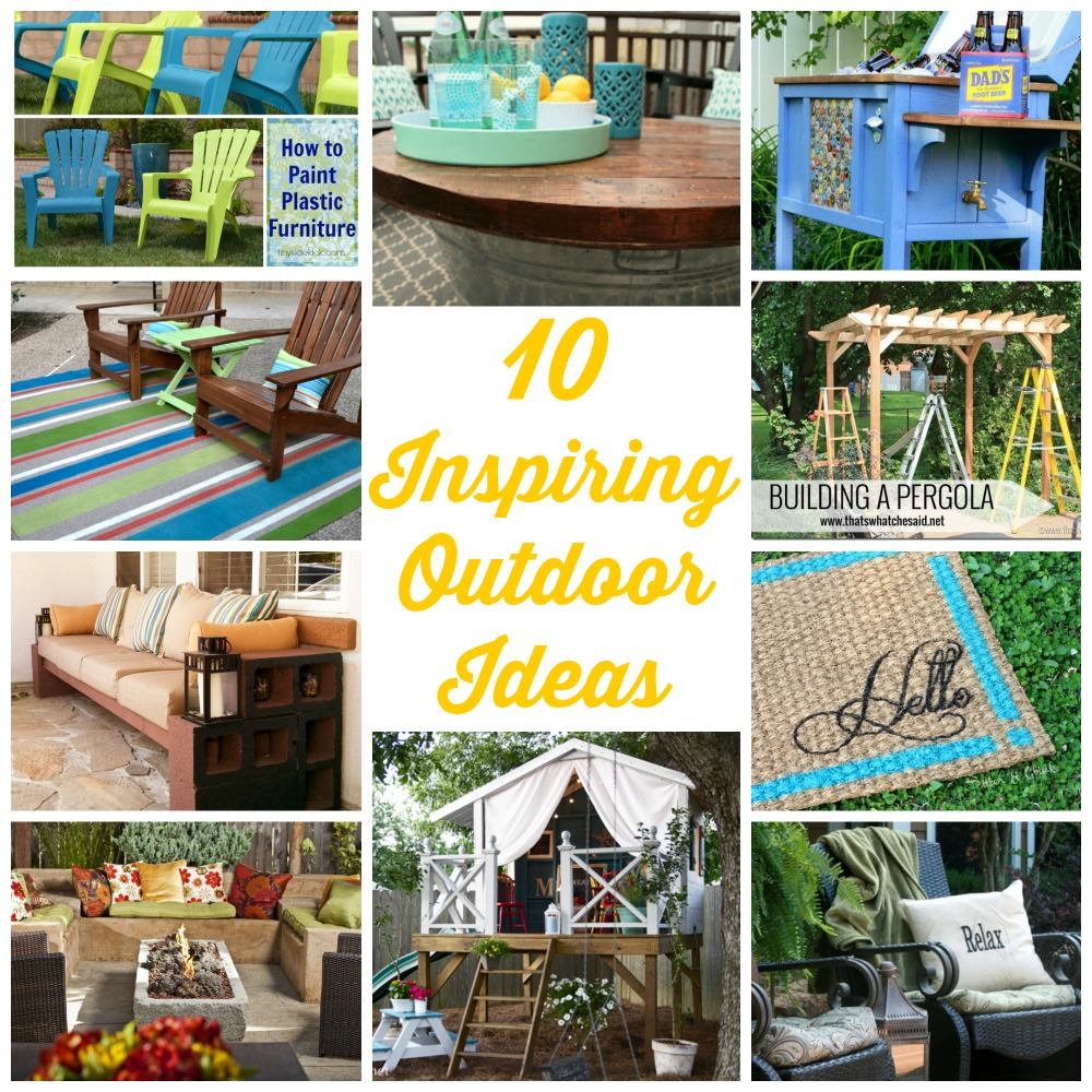 10 Inspiring Outdoor Ideas | Addicted 2 DIY