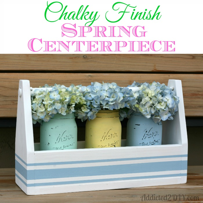 Chalky Finish Spring Centerpiece