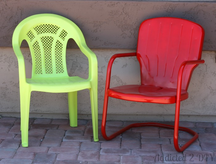 Vintage Patio Chair Makeover | Addicted 2 DIY