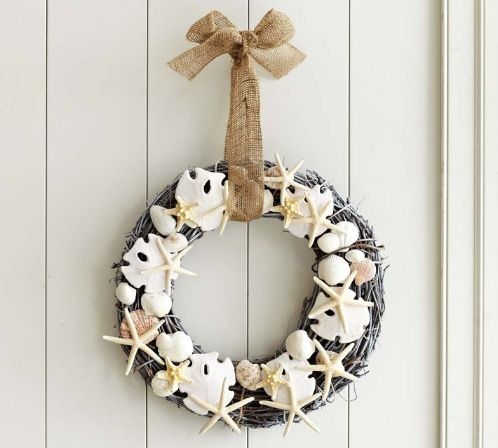 Holiday Decor Gift Ideas Pottery Barn Edition All My: DIY Seashell Wreath {Pottery Barn Knockoff}