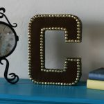 Ballard-Inspired Leather Studded Monogram {My Crafty Spot Contributor Post}