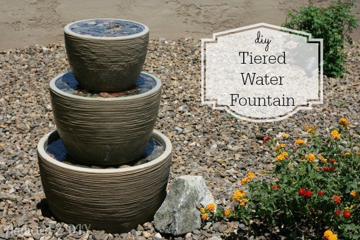 Diy tiered water fountain addicted 2 diy for Do it yourself water features