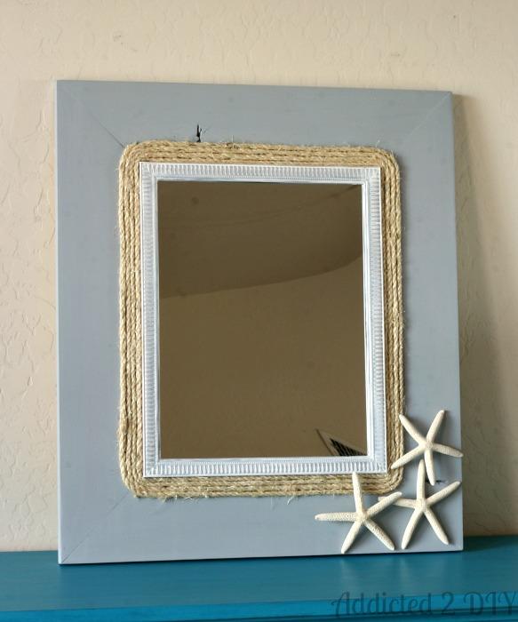 Chalky Finish Coastal Mirror | Addicted 2 DIY