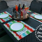 Painted Drop Cloth Placemats {Guest Post at A Prudent Life}