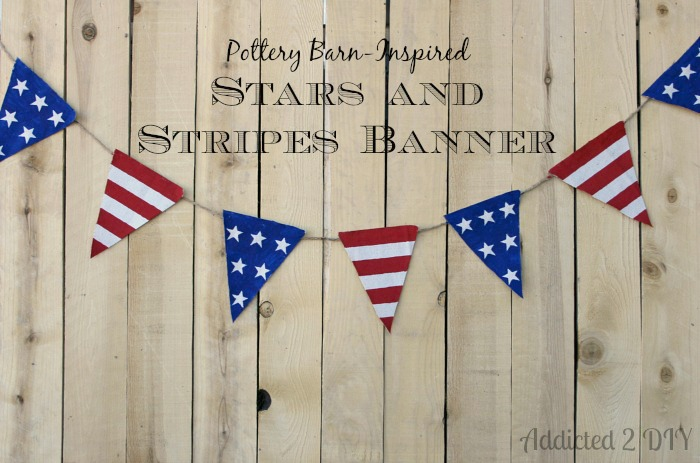 Pottery Barn Inspired Stars and Stripes Banner