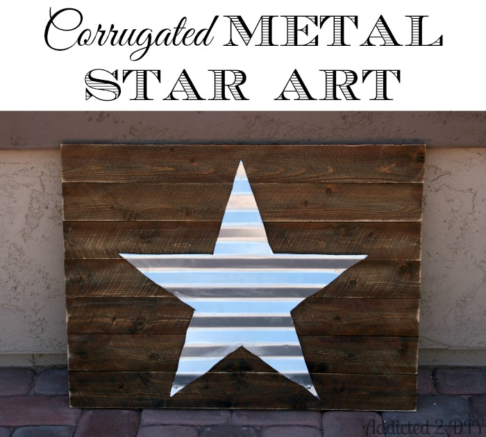 Corrugated Metal Star Art