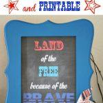 DIY Patriotic Frame and Printable