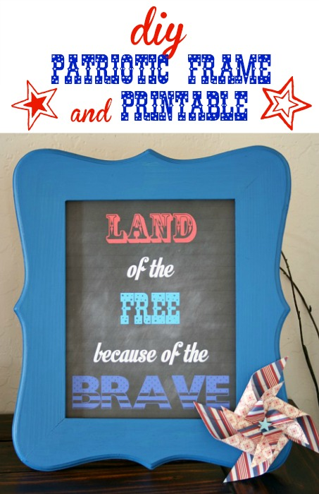 DIY Patriotic Frame and Printable