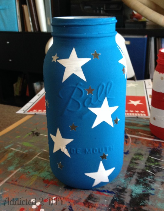 Patriotic Mason Jar Lanterns