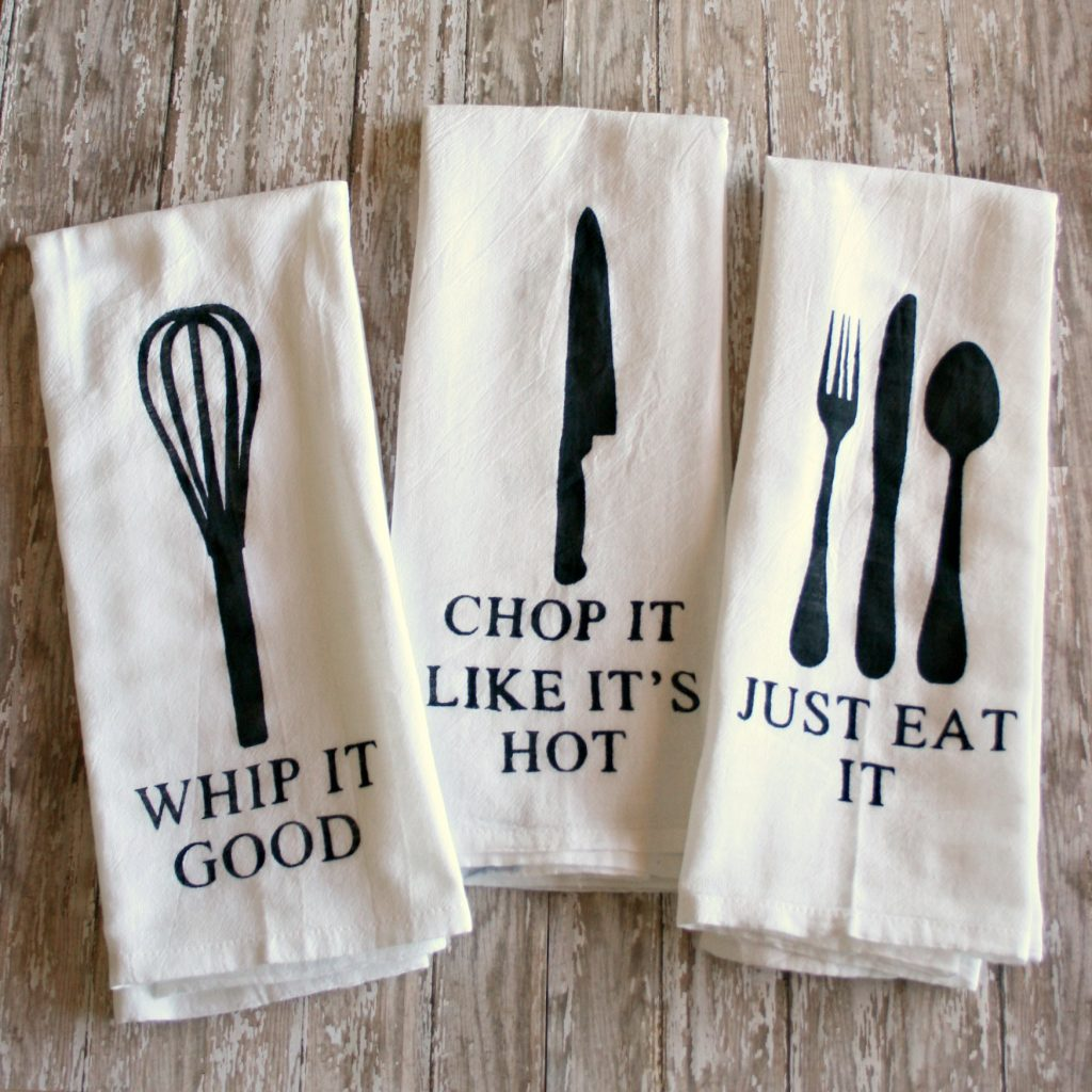 DIY Painted Kitchen Towels {with Free SVG Files ...