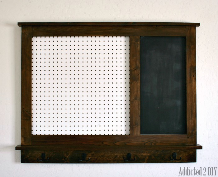 DIY Pegboard Organizer with Magnetic Chalkboard - Free Plans ...