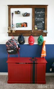 Build Your Own Pegboard Organizer with Magnetic Chalkboard