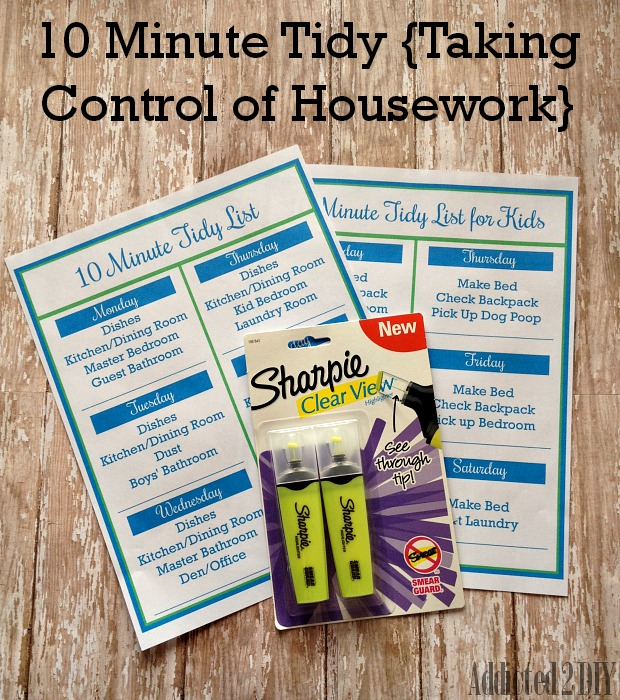 10 Minute Tidy {Taking Control of Housework}