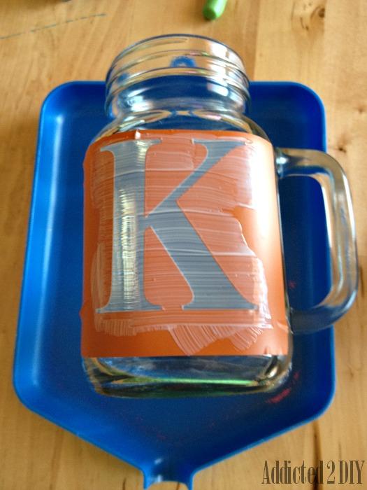 Glitter Monogram Mason Jars