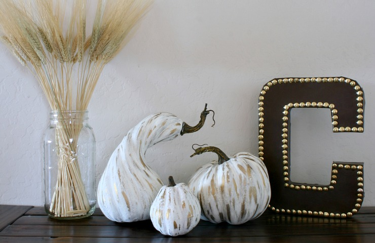 Gilded Gourds Fall Decor