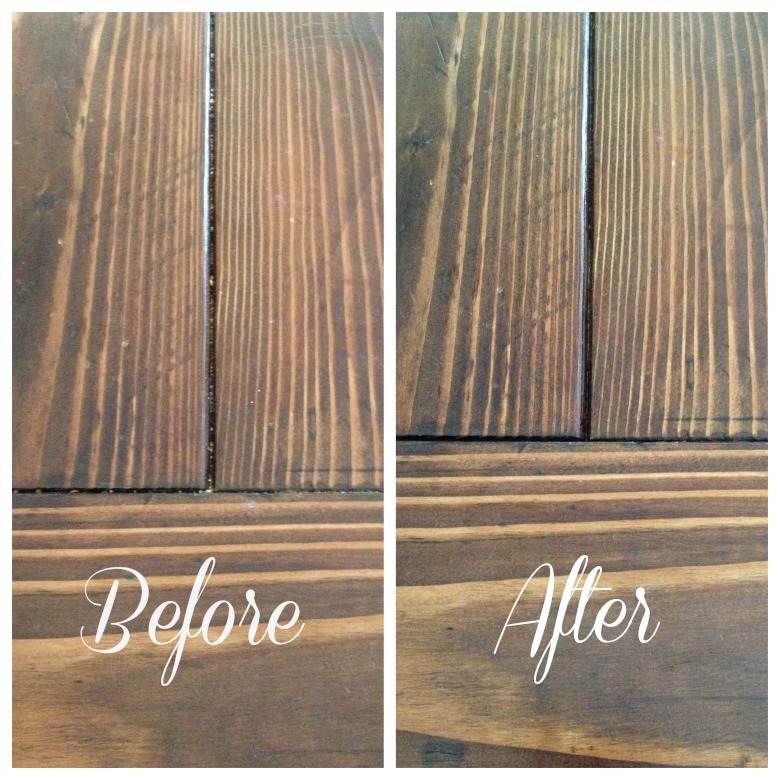 Before and After Farmhouse Table Cleaning